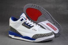 on sale fa531 921f3 Men And Women Air Jordan Retro 3 AJ3 Shoe White Blue Zapatillas Jordan Retro,  Moda
