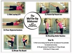 Great explanation of a workout to kill the muffin top! With more explanation of each move in the post.