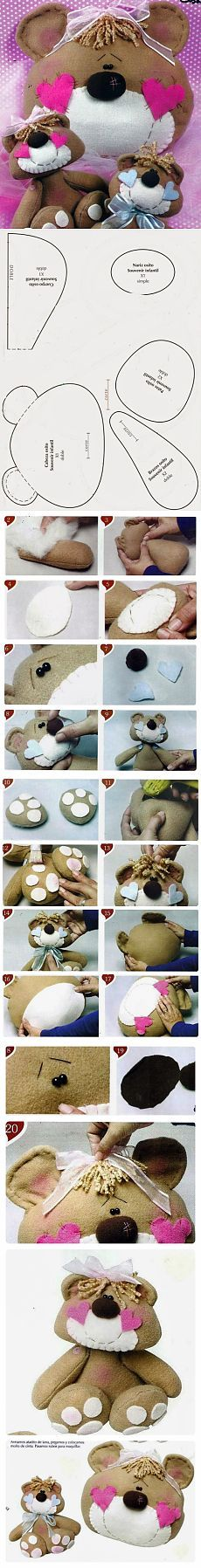 DIY teddy bear plushie