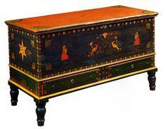Paint-decorated dower chest, Mahantongo Valley, Pennsylvania, circa 1840  http://www.americanantiqueart.com/html/dower_chest_paint_decorated.html#