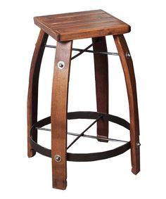 Look at this #zulilyfind! 24'' Pine & Wine Barrel Oak Stave Stool by 2 Day Designs #zulilyfinds