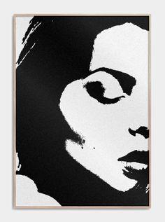 Kunstplakat af et kvindeansigt i sort og hvide farver Line Drawing, Drawing Sketches, Drawings, Dark Portrait, Abstract Face Art, Black White Art, Fashion Painting, Stencil Art, Marquetry