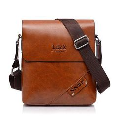 171e3633e80 Men Business PU Casual Shoulder Messenger Briefcase Crossbody bag