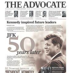 Le prime pagine dei giornali ricordano #JFK
