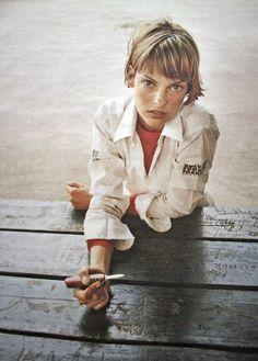 Bandit Kids photography inspo || LInda Evangelista by Juergen Teller || capture…