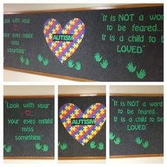 Our Autism Awareness Month bulletin board.