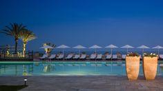 Atardecer desde la piscina del Hotel Guadalmina Marbella.