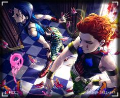 Hunter x Hunter ~ Illumi and Hisoka. These two are so fabulous its overwhelming xD