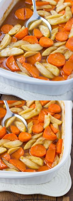 Baked Yamples - Sweet Potatoes and Apples in Brown Sugar Sauce! (Gluten-Free…
