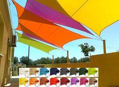 Solseil vanntett trekant 3m elfenben   Solseil vanntett   Rustibust - 19 farger - gratis frakt