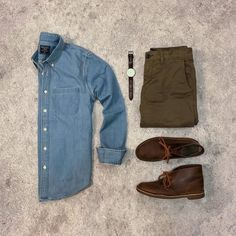 Rate This Outfit 1 to 10. . @drewsdrawers .... . . Download our FREE ebook. Link In Bio . . Denim Shir