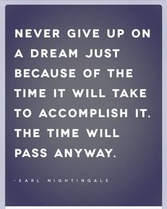 Never Ever Give Up On Your Dreams 5/10/2014 Minister RuthAnn