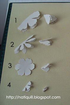 """Olá a Todos!!  Com essa """"Tattered Florals Die"""", voce faz lindas flores de papel, tutorial  abaixo;   Materiais usados :  Cola  Tesoura  Ca... Handmade Flowers, Diy Flowers, Fabric Flowers, Paper Flowers, Flower Ideas, Diy Fleur, Card Making Tutorials, Flower Template, Diy Headband"""