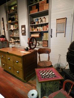 """Checkers Anyone?  The """"General Store"""" in """"Main Street"""" exhibit at the Geary County Museum, Junction City, KS"""