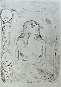 Edvard Munch (1863-1944) - Madonna - [1885]