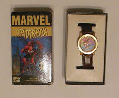 AMAZING SPIDER-MAN Mens WRIST WATCH 1996 Marvel Unused MIB Amazing Spider, Spiderman, Marvel, Watches, Men, Spider Man, Wristwatches, Clocks, Guys