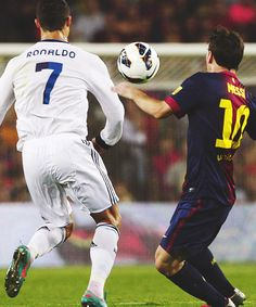 Ronaldo and Messi.... Too much greatness in one picture.
