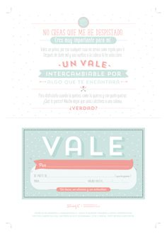 Descargable – Un vale que vale para mil regalos. | by Mr. Wonderful* Craft Gifts, Diy Gifts, Project Life Scrapbook, Mr Wonderful, You Make Me Happy, Year Anniversary Gifts, Boyfriend Gifts, Funny Images, Free Printables