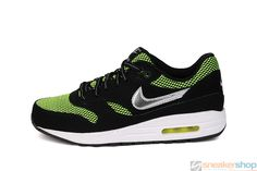 best sneakers 38bbe 916e3 Nike Air Max 1 LE (GS) (Black Metallic Silver-Volt-White)   631747-001