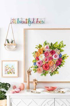 Mondocherry's paper artwork   Home Beautiful Magazine Australia