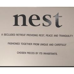Love this! For our nest area if there's room