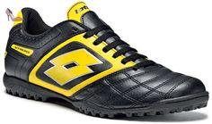 Lotto Sport Stadio Potenza II 700 Turf, Homme, Taille 40 (EU), Noir / jaune - Chaussures lotto sport (*Partner-Link)