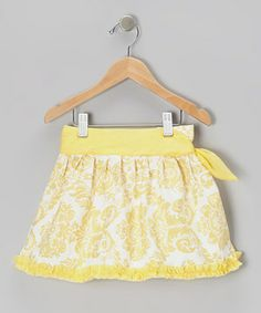 Take a look at this Yellow Damask Tie Skirt - Infant, Toddler & Girls by Trish Scully Child on today! Little Girl Fashionista, Tie Skirt, Flower Skirt, Toddler Girls, Infant Toddler, Girls Wardrobe, Ballet, Kid Styles, Stylish Girl
