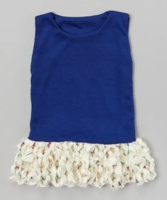 This Navy Sequin Ruffle Tunic - Infant, Toddler & Girls is perfect! #zulilyfinds