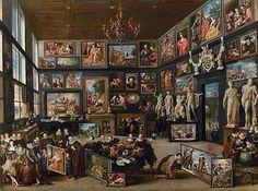 Cornélius van der Geest, par Willem van Haecht, 1628, tableau ayant inspiré Georges Perec pour son roman Un cabinet d'amateur.