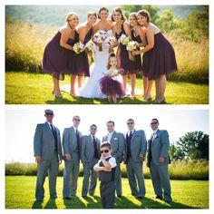 Purple and grey wedding, ring bearer, flower girl tutu, summer wedding, pink