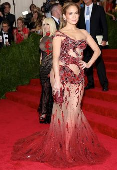 Jennifer Lopez hit the red carpet at the 2015 Met Gala held at the Metropolitan Museum of Art in New York City on May 4, 2015