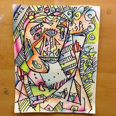 After an appropriate color job ! #NVNEZ #art #draw #cubism #artford #portrait #XNZart