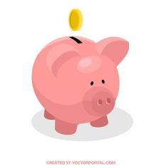 Piggy bank vector image. Free Vector Images, Vector Free, Pig Bank, Children's Book Illustration, Book Illustrations, Cute Diys, Childrens Books, Clip Art, My Favorite Things