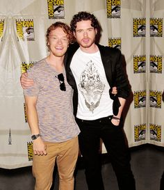 """Actor Alfie Allen and actor Richard Madden participate in HBO's """"Game Of Thrones"""" Panel - Comic-Con International 2012 held at San Diego Convention Center on July 2012 in San Diego, California. Alfie Allen, Game Of Thrones Cast, Richard Madden, We Heart It, It Cast, Celebs, Actors, Beautiful, Women"""