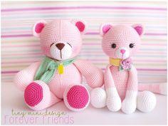 nice Amigurumi Pink Bear