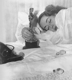 An unstaged shot of Joan Crawford the morning after. SO natural!!!