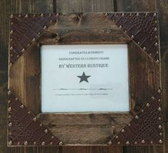 Check out this item in my Etsy shop https://www.etsy.com/listing/520947496/western-decor-oak-wood-8x10-photo-frame