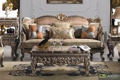 Traditional Upholstery French European Design Formal Living Room ...