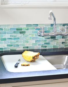 Blue Green Gl Tile Backsplash