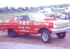 """CKC Nova Fastback. We used to watch this car run at the old San Antonio Dragstrip on Rittiman Road.  It was """"unbeatable"""" Fritz Callier, Driver"""