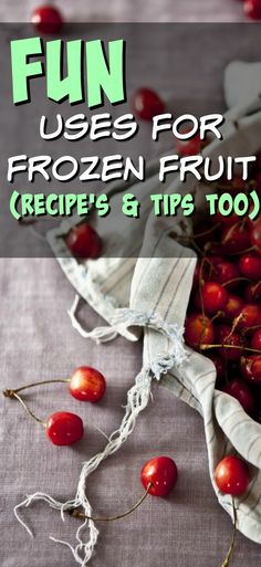 Fun recipes, tips and tricks for using frozen fruit to it's fullest potential. Plus, you can buy frozen fruit in bulk so it's frugal too! = BONUS