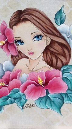 Chalk Drawings, Cute Drawings, Simple Flower Drawing, Adult Art Classes, Basket Drawing, Cartoon Crazy, Disney Silhouettes, Cute Girl Drawing, Diy Canvas Art