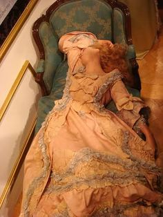 Oldest surviving waxwork- Madame du Barry modeled for this, that is crazy!