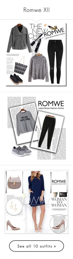 """""""Romwe XII"""" by nermina-okanovic ❤ liked on Polyvore featuring romwe, Maybelline, Gucci, Pier 1 Imports, Balmain, Marc Jacobs, MAC Cosmetics and Mr. Coffee"""