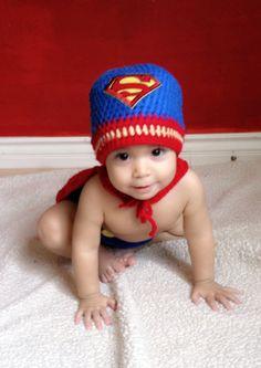 Baby Superman crochet hat CAP