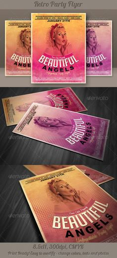Minimalistic Retro Party Flyer - http://graphicriver.net/item/minimalistic-retro-party-flyer-/5318336?ref=cruzine