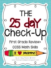 25 Day Math Check-Up @ The Inspired Apple