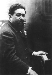 """""""Spanish composer Isaac Albeniz was a . child prodigy on the piano. His piano compositions are rhythmic and evocative, often based on traditional folk music and dances from different parts of Spain. Many of his works have been arranged for guitar."""