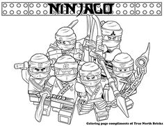 Coloring Page - Secret Ninja Force - True North Bricks Ninjago Coloring Pages, Turtle Coloring Pages, Coloring Pages For Boys, Free Coloring Pages, Coloring Books, Ninjago Party, Lego Ninjago Movie, Spiderman Coloring, Pop Up Cards