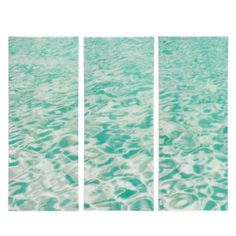 Perfect for water/beach theme living room :) Emerald Water - Set of 3 from Z Gallerie